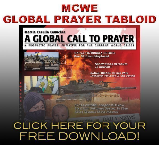 Morris Cerullo's A Global Call to Prayer Tabloid